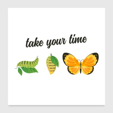 Take Your Time - Butterfly - Poster 60x60 cm