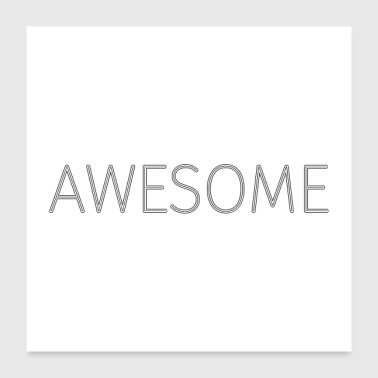 Awesome Stroke - Black (Poster) - Poster 60x60 cm