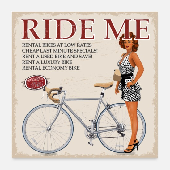 Bicycle Posters - Ride Me - ride a bicycle - Posters white