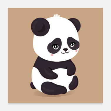 Collection For Kids Søt panda - Poster 60x60 cm