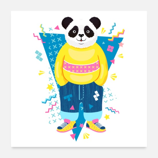 80s Posters - 80s panda - Posters white