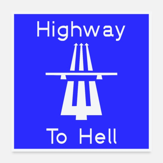 Devil Posters - Highway to hell - Posters white