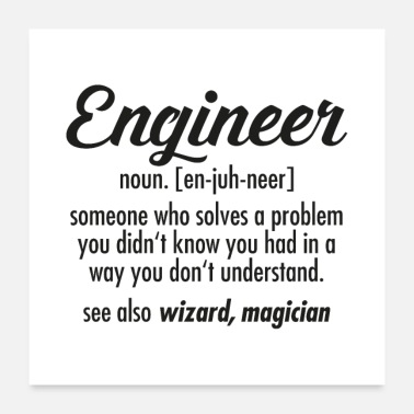 Engineer Engineer definition - Poster
