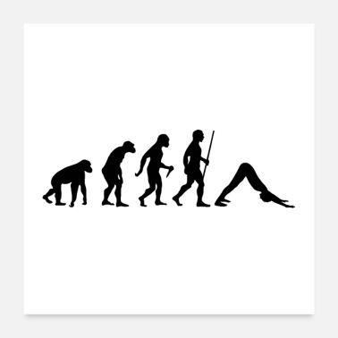 Yoga Evolution Yoga - Poster 24 x 24 (60x60 cm)