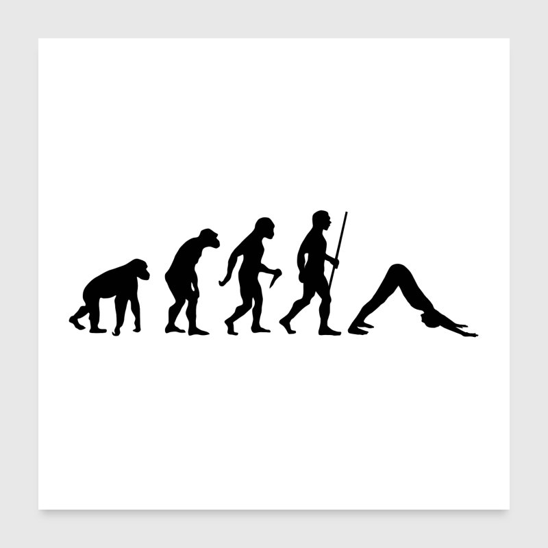 Evolution Yoga - Poster 24 x 24 (60x60 cm)