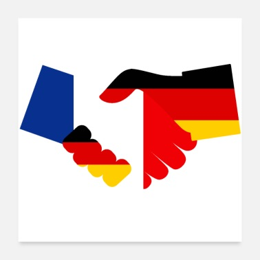 Eu Germany France Friendship - Poster 24 x 24 (60x60 cm)