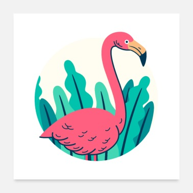 Animal Collection Retro flamingo-ontwerp - Poster