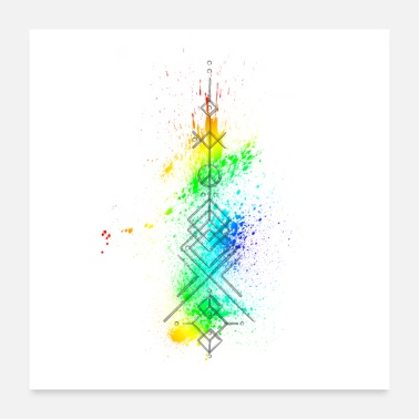 Arrow Arrow Geometric Colorful - Poster 24 x 24 (60x60 cm)