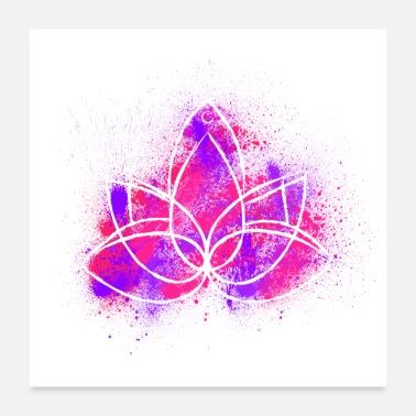 Shop lotus flower posters online spreadshirt lotus flower lotus flower purple red powder poster 24 x 24 60x60 cm mightylinksfo