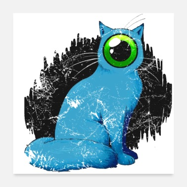 Freak Cyclops cat Weird - Poster 24 x 24 (60x60 cm)