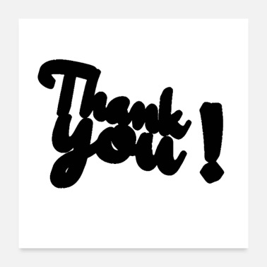 shop thank you posters online spreadshirt