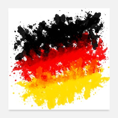 Germany Germany jersey flag grunge brush football - Poster