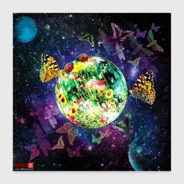 04 Little Fantasy World Affiche Margarita Art - Poster 60 x 60 cm