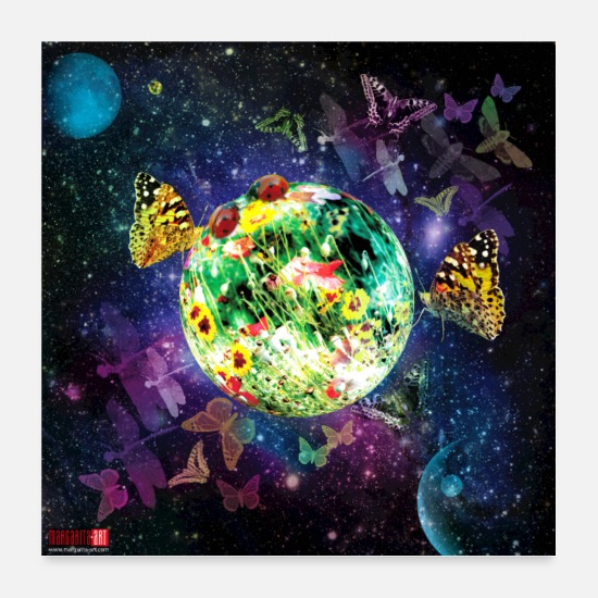 Univers Posters - 04 Little Fantasy World Affiche Margarita Art - Posters blanc
