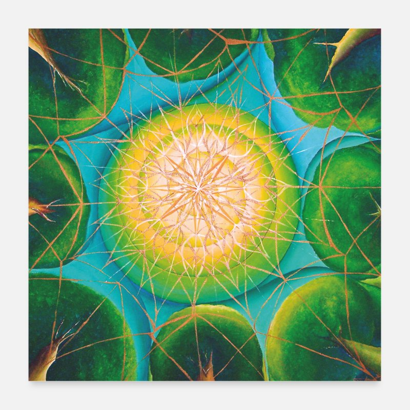 "Mandala Julisteet - SoulArt Mandala ""Nature Bonding"" - Julisteet valkoinen"