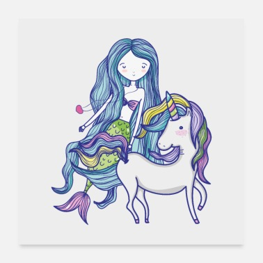 Collection For Kids Unicorn mermaid - Poster