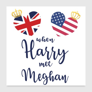 Wedding Royal Wedding Crown - Poster 24 x 24 (60x60 cm)