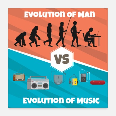 Rap Evolution of Music Rap HipHop Techno Trance House - Poster
