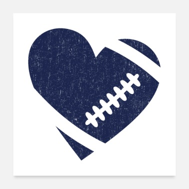 Carolina Panthers AMERICAN FOOTBALL HEART - Poster
