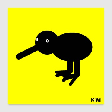 Kiwi Abstract Animals Gift Gift Idea - Poster 60x60 cm