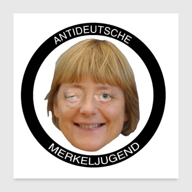 Anti-tysk Merkel Youth - Poster 60x60 cm