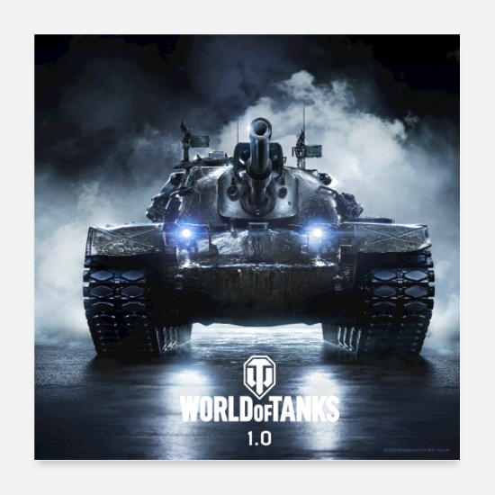 Geek Posters - World of Tanks WoT M48A5 PATTON - Posters white