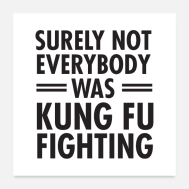 Kung Fu Surely Not Everybody What Kung Fu Fighting - Poster