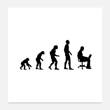 Evolution Büro Evolution - Poster 60x60 cm