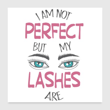 Eyelashes Perfect eyelashes makeup make-up - Poster 24 x 24 (60x60 cm)