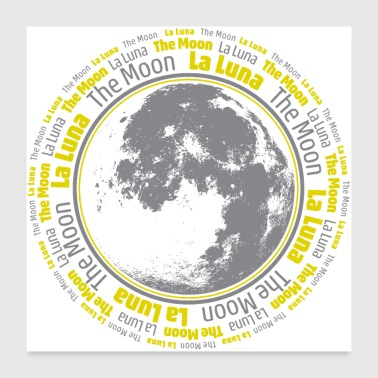 The Moon Poster - Poster 24 x 24 (60x60 cm)