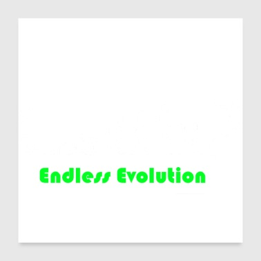 Darwin Endless Evolution weiss - Poster 60x60 cm
