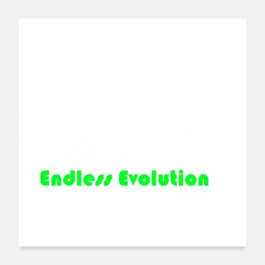Darwin Endless Evolution wit - Poster 60x60 cm