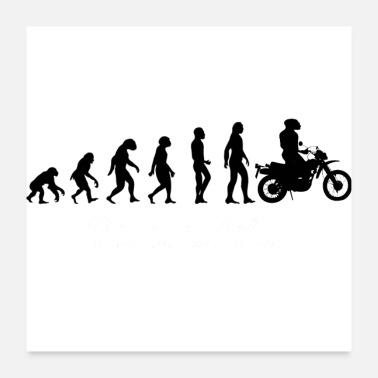 Darwin Evolution Motorcycle - Poster