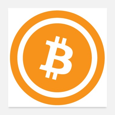 Animal animated bitcoin - Poster 24 x 24 (60x60 cm)