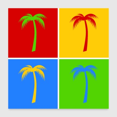 Palmer Palm pop art - Poster 60x60 cm