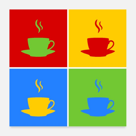 Tea Posters - Coffee pop art - Posters white