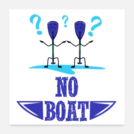 Gift Idea Posters - No boat - Posters white