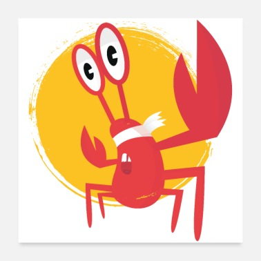 Crabe lobster - Poster 60 x 60 cm