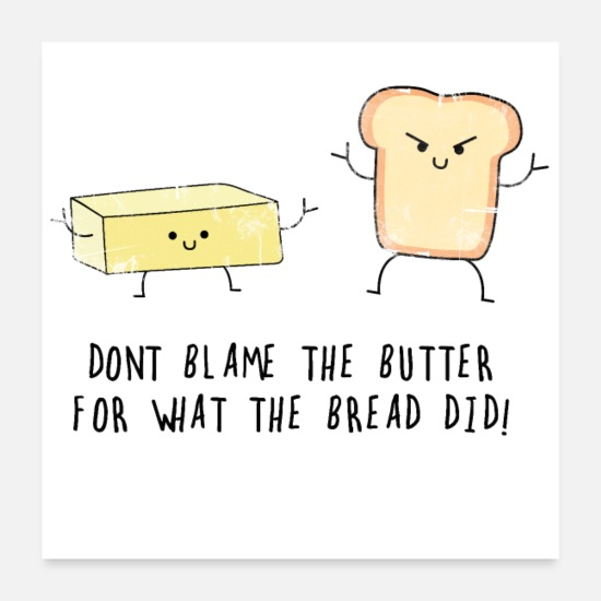 Gift Idea Posters - Butter and bread - Posters white