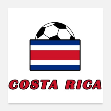Nationalmannschaft COSTA RICA Nationalmannschaft Design - Poster