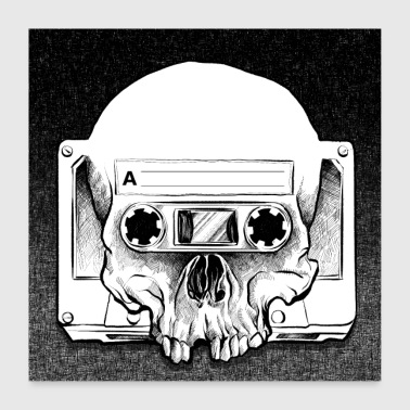 Retro Audio Skull - Poster 60x60 cm