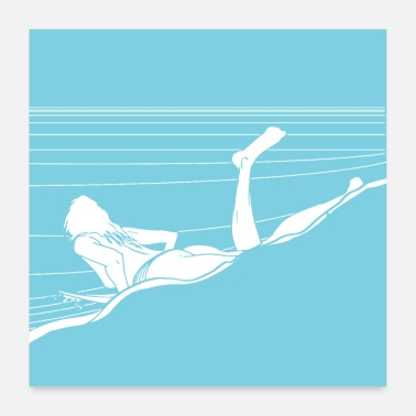Swimming Trunks Take off - Poster