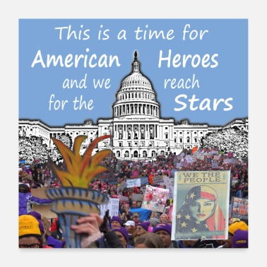 American This Is A Time For American Heroes - Poster 24 x 24 (60x60 cm)