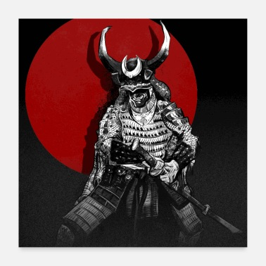 Mythical Collection samurai - Poster 24 x 24 (60x60 cm)