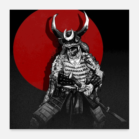 Mythical Collection V2 Posters - samurai - Posters white