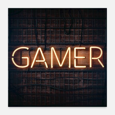 Gaming Collection jugador - Póster 60x60 cm
