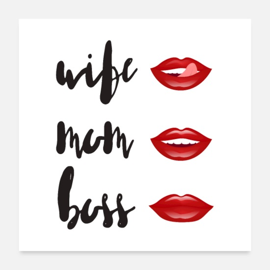 Boss Monster Posters - WIFE - MOM - BOSS - Posters white