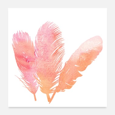 Feather Feather feathers feathers gradient - Poster
