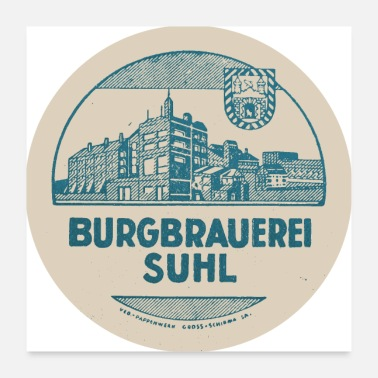 Turn On Burgbrauerei Suhl - Poster 24 x 24 (60x60 cm)
