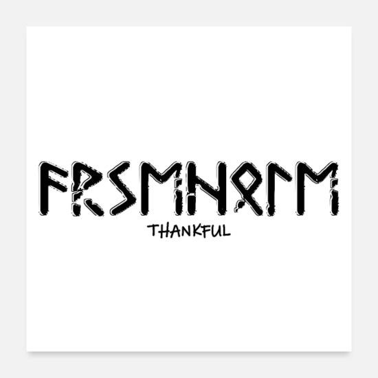 "Thankful Posters - ""Thankful"" - Posters white"